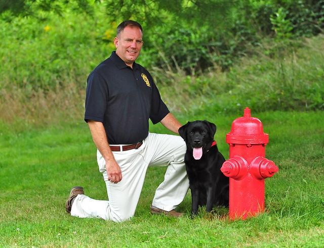 Arson Dog Daisy and Handler John