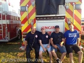 From left; firefighter John Nikach, Lt. David Dowd, Ex-Chief James Ruffler and firefighter Jake Bernard.