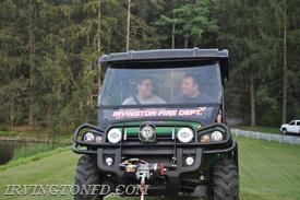 Lt. Mangiacotti and 2nd Assistand Chief Joe Trama driving U-149 (and having a few laughs).