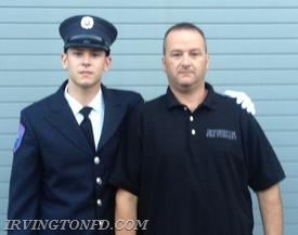 Firefighter Dennis Montaruli, Jr. and his proud father, firefighter Dennis Montaruli, Sr.  Photo credit: D. Montaruli, Sr.