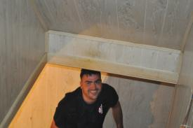 Lt. Billings checking out the basement.