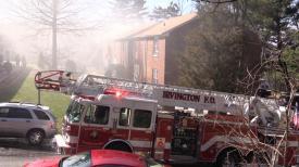 Ladder36 on scene.   Photo courtesy of Jared Rosenberg.